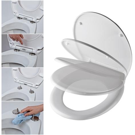 baumarkt egger bad sanit r wc sitze duroplast wc sitz mit absenkautomatik und. Black Bedroom Furniture Sets. Home Design Ideas
